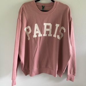 "Wild Fable Oversized ""Paris"" Sweatshirt"